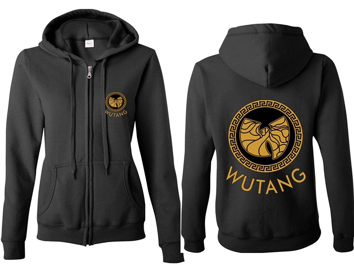 Amazon.com: IZ.80 Womens Wu-Tang Clan VERSACE Full-Zip Hooded Sweatshirt M Black: Clothing