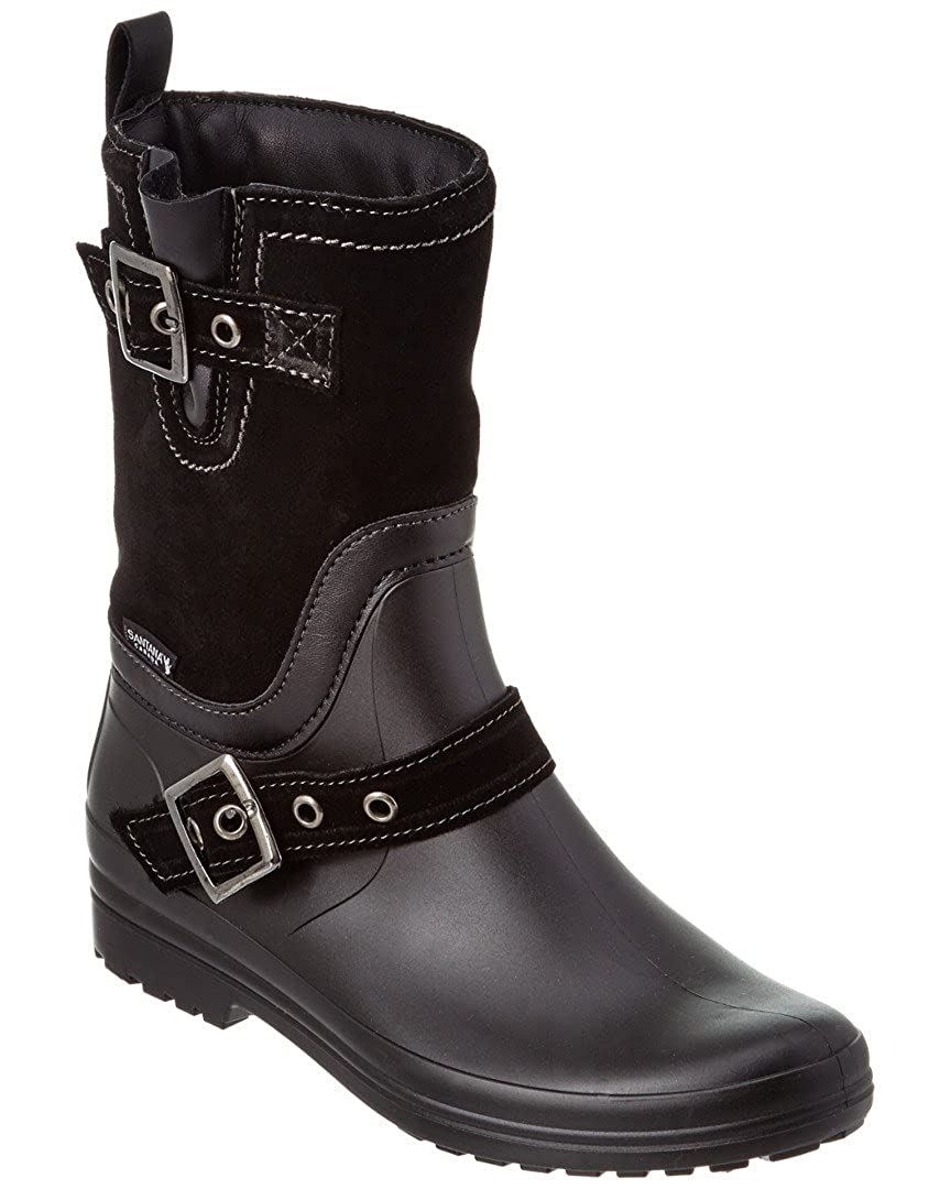 68e4ad2fd Amazon.com | Santana Canada Women's Cayley Short Rain Boot, Black ...
