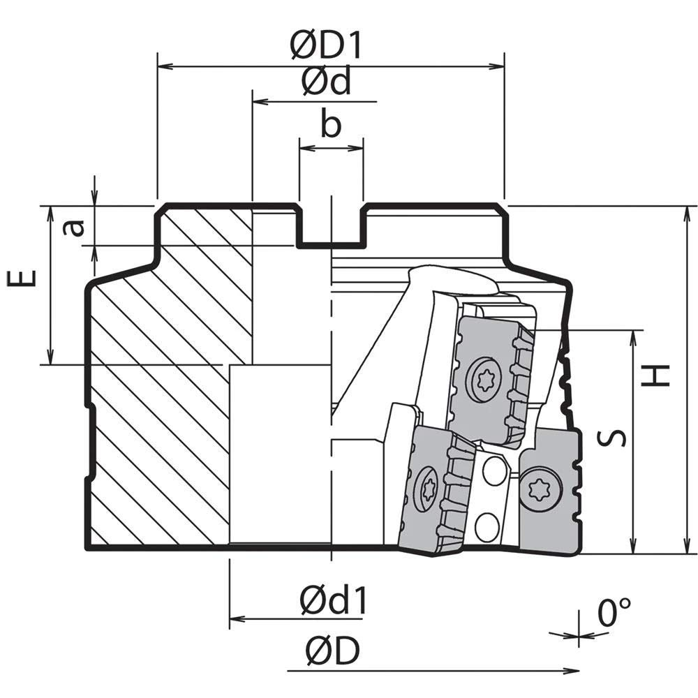 Kyocera MSR 3000R2 MSR 3.0000 Cutting Diameter Face Mill