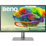 BenQ PD2720U 27 inch 4K UHD IPS Monitor   HDR  AQCOLOR for Color Accuracy  Custom Modes  eye-care tech   Thunderbolt 3,Grey