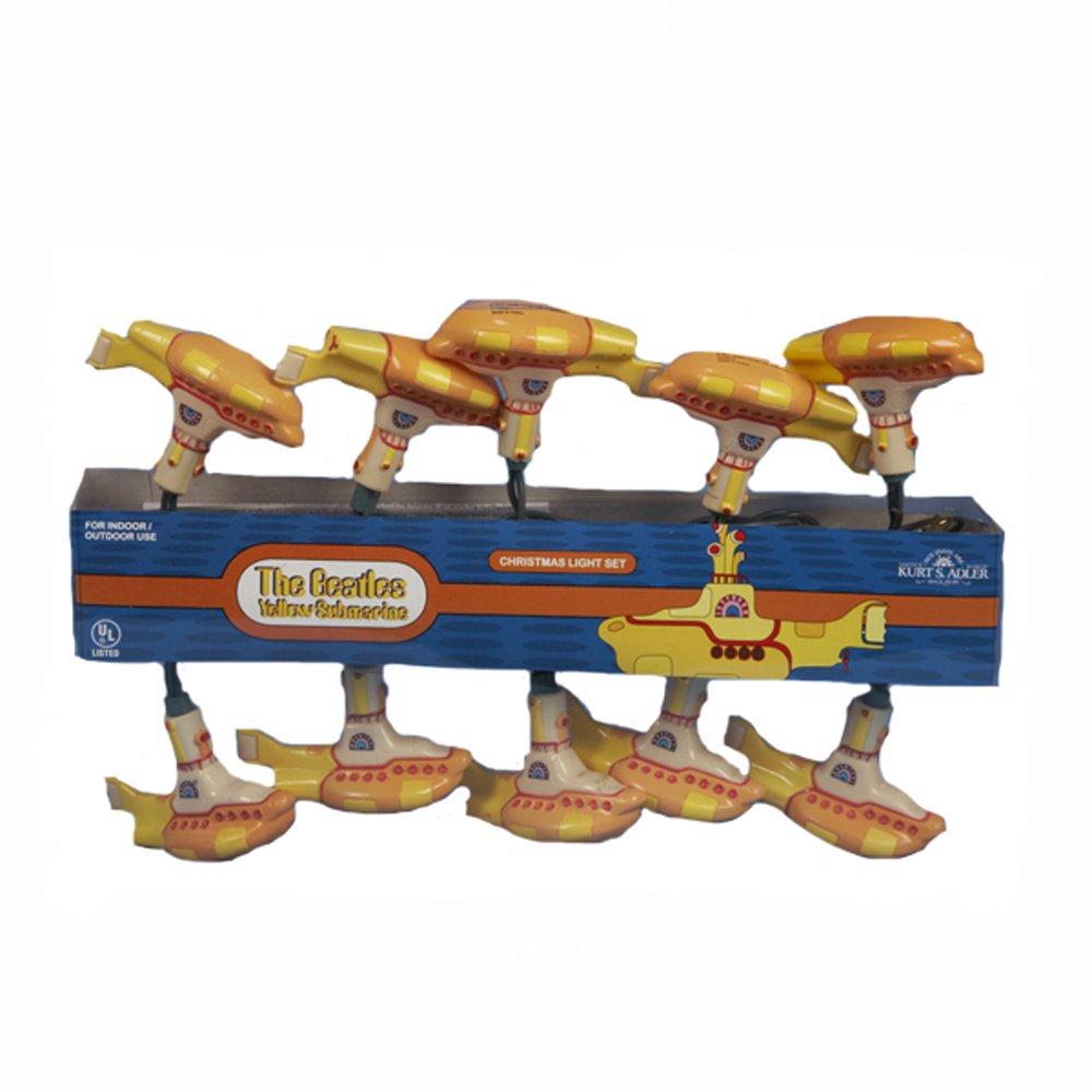 Beatles Yellow Submarine Kurt Adler 10-Light Yellow Submarine Light Set, 11-Feet
