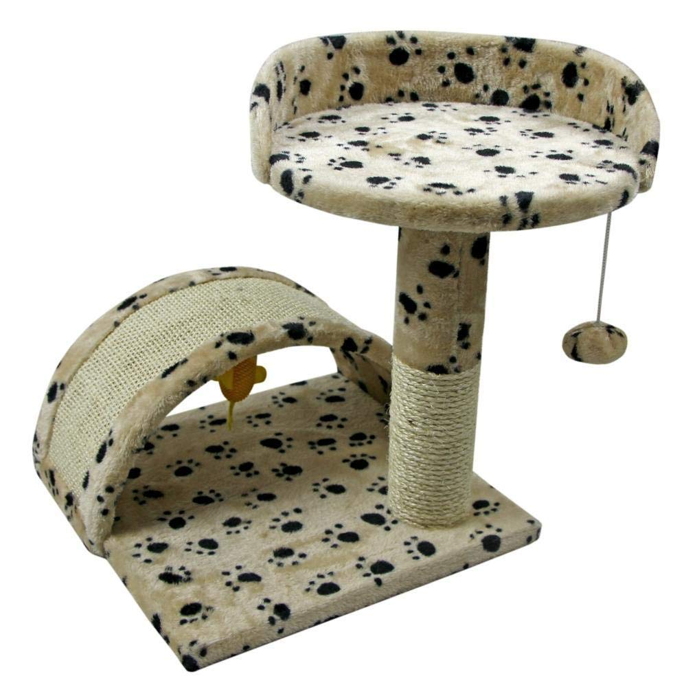 A Deluxe Multi Cat Tower Cat Play Towers Multifunctional Natural sisal Cat Platform Cat Scratch Small cat Rack cat Pet Supplies 43  42  42cm (color   A)