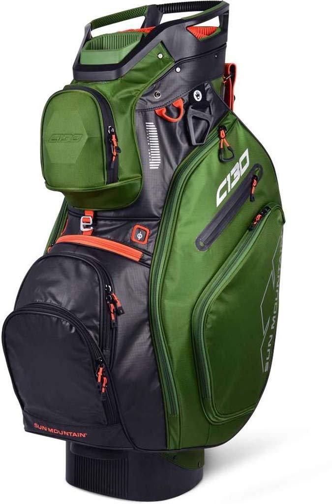 Sun Mountain Golf 2019 C-130 Cart Bag CACTUS-BLACK-INFERNO (Cactus-Black-Inferno) by Sun Mountain
