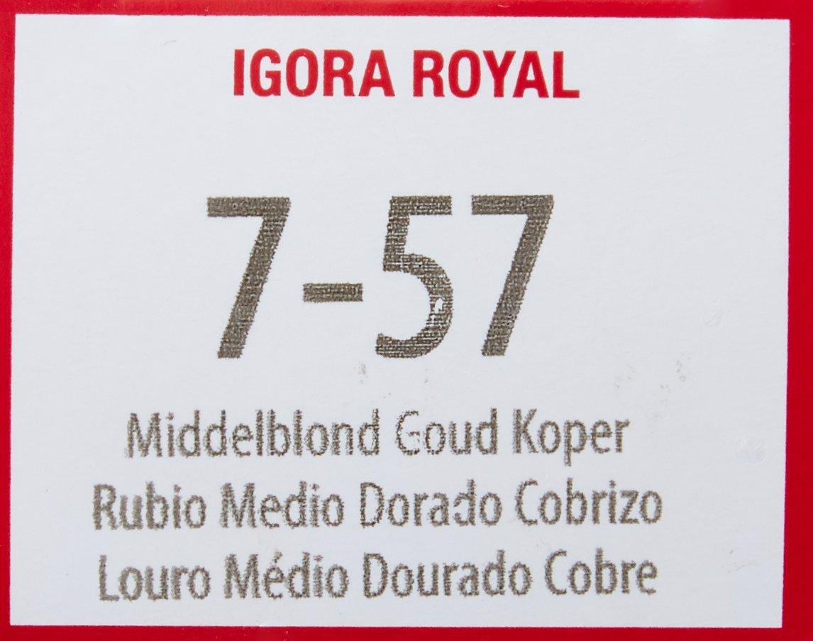 Schwarzkopf Igora Royal - Tinte Permanente, Tono 7-57 - 60 ml ...