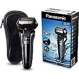 Panasonic Premium Rasierer ES-LV6Q mit 5 Scherelementen, mit flexiblem 3D-Scherkopf, mit ausklappbarem Trimmer, wasserdicht, Reise-Etui