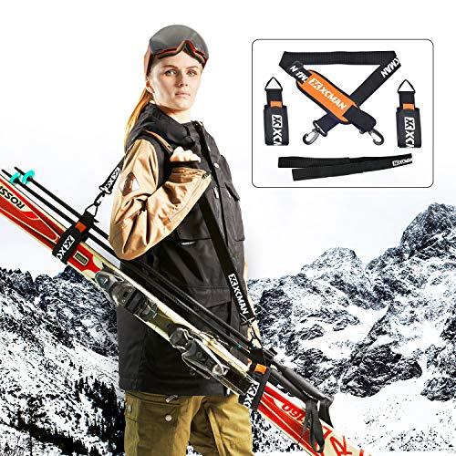 XCMAN 알파인 스키 및 스트랩 스키 폴 스트랩 스키 부츠 CARRIER KIT|쉽게 전송하는 스키 장비를 보호하키 폴란드에서 상처와 피해