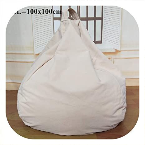 Amazon.com: Bean Bag Sofa Cover Chairs Lazy Seat Puff Beds ...