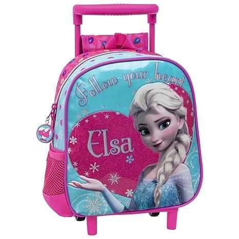 Disney Frozen Elsa Mochila Preescolar con Carro