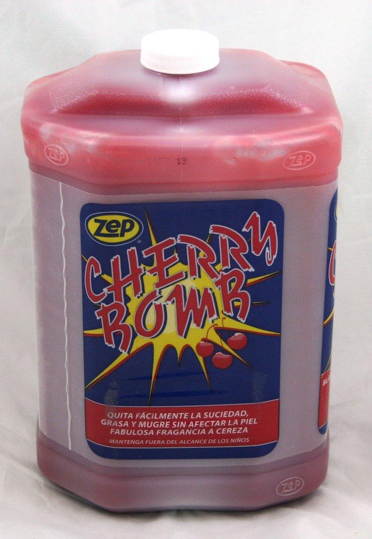 Zep Cherry Bomb Hand Cleaner, 4-1 Gallon Bottles, Pumice Soap, Gentle On Hard-Working Hands, Moisturizes, Auto M echanics Favorate (095124)