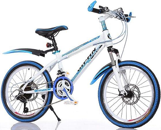 GRXXX Bicicleta de montaña Cambio de Velocidad Frenos de Disco Bicicleta de Carretera Adultos Niños 20 Pulgadas,Blue-20 Inches: Amazon.es: Hogar