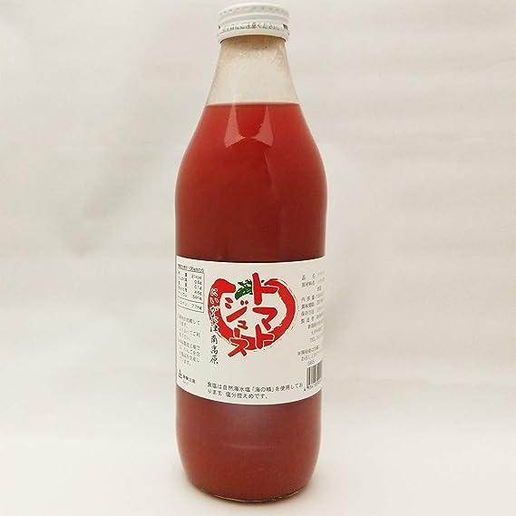 トマトジュース 1L×6本 津南高原農産 100%ストレート 海の精使用