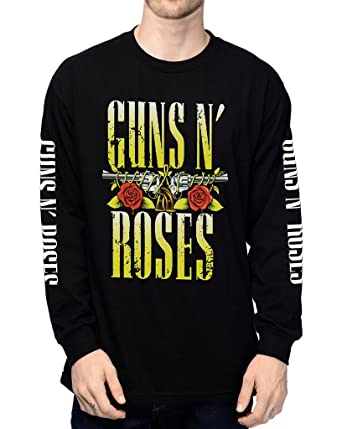 832c759d630e Amazon.com: EmoBug Guns N Roses GNR Appetite for Destruction Skull Logo  Long Sleeve Men's T-Shirt: Clothing