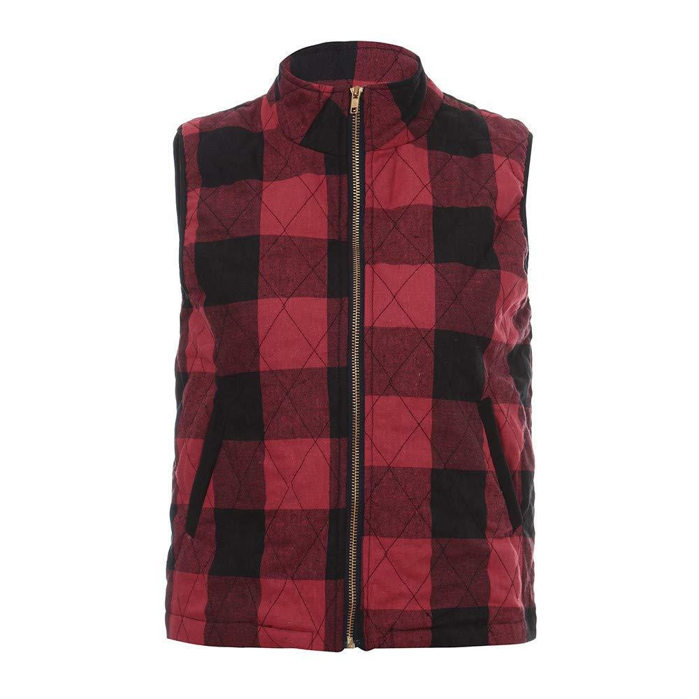 Kaitobe Womens Long Cardigan Sweaters Oversized Sleeveless Vest Plaid Open Front Knit Zipper Kimono Duster Coats Outwear
