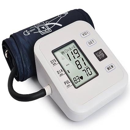 KOSHSH Tensiómetros De Presión Arterial Digital Inicio Instrumento Medición Presión Arterial Brazo Superior Brazo Automático Instrumento