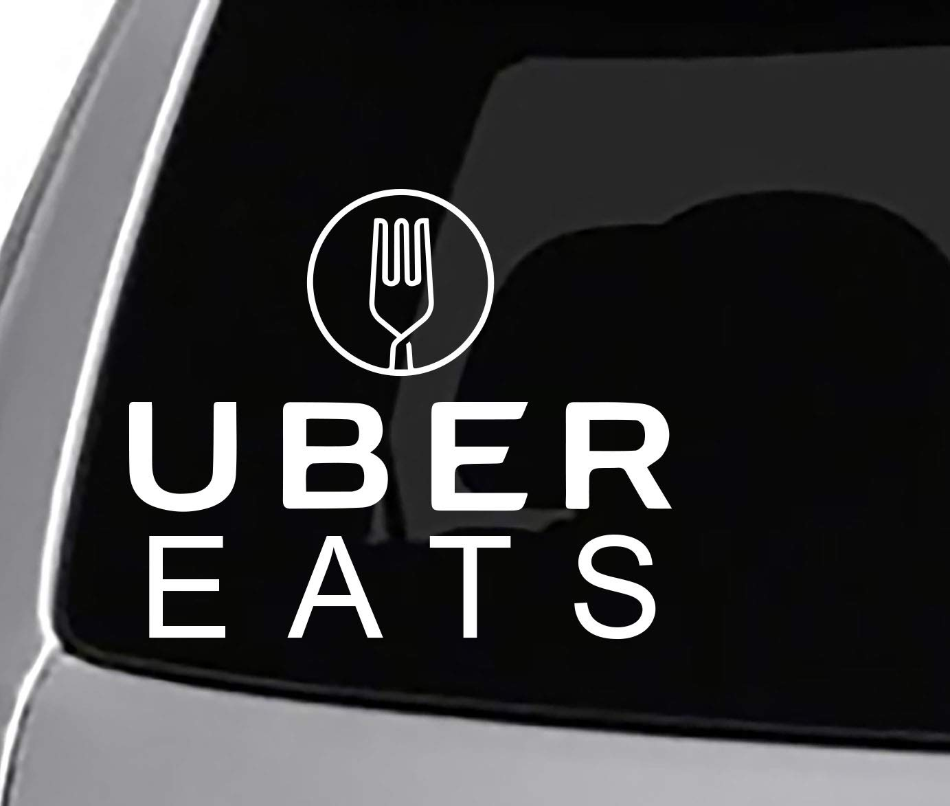 Amazon com: Seek Racing UBER EATS Decal CAR Truck Window Bumper