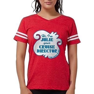 e06073f2 CafePress - Love Boat Julie Cruise Director - Womens Football Shirt Red