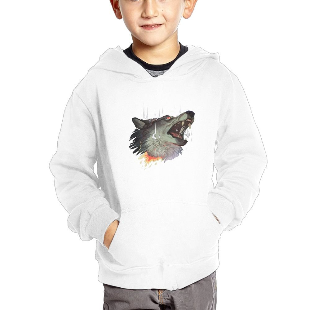 Charlotte Housman Sons and Daughters Wolf Fangs Casual Style Sports Hoody White