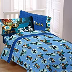 Lego Legends Chima Laval Sheet Set 4pc Full Bedding