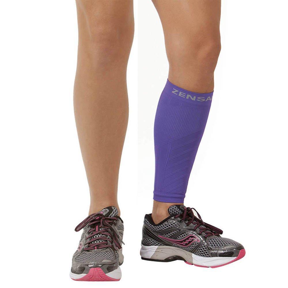 Zensah Calf/Shin Splint Compression Sleeve (singe sleeve), Purple, X-Small/Small