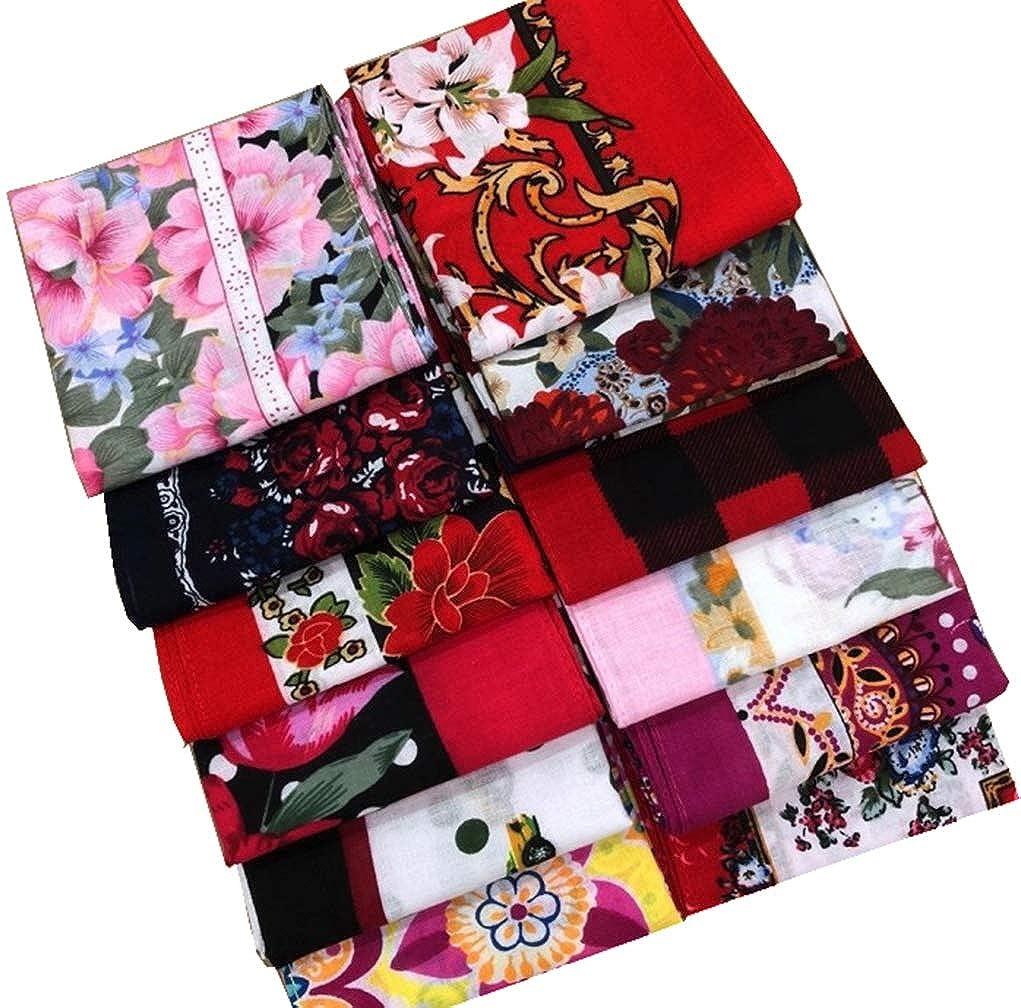 MENDENG Bandanas Cotton Paisley Scarf Wristband Headbands Handkerchiefs 12pcs aa092567