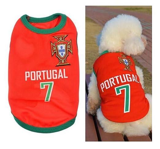 BDM Ropa para Perros Pequeños, Jersey Chaleco Deportes Suave Transpirable del Perros Gatos Cachorros Camisa del Animal Doméstico de Fútbol Copa del Mundo ...