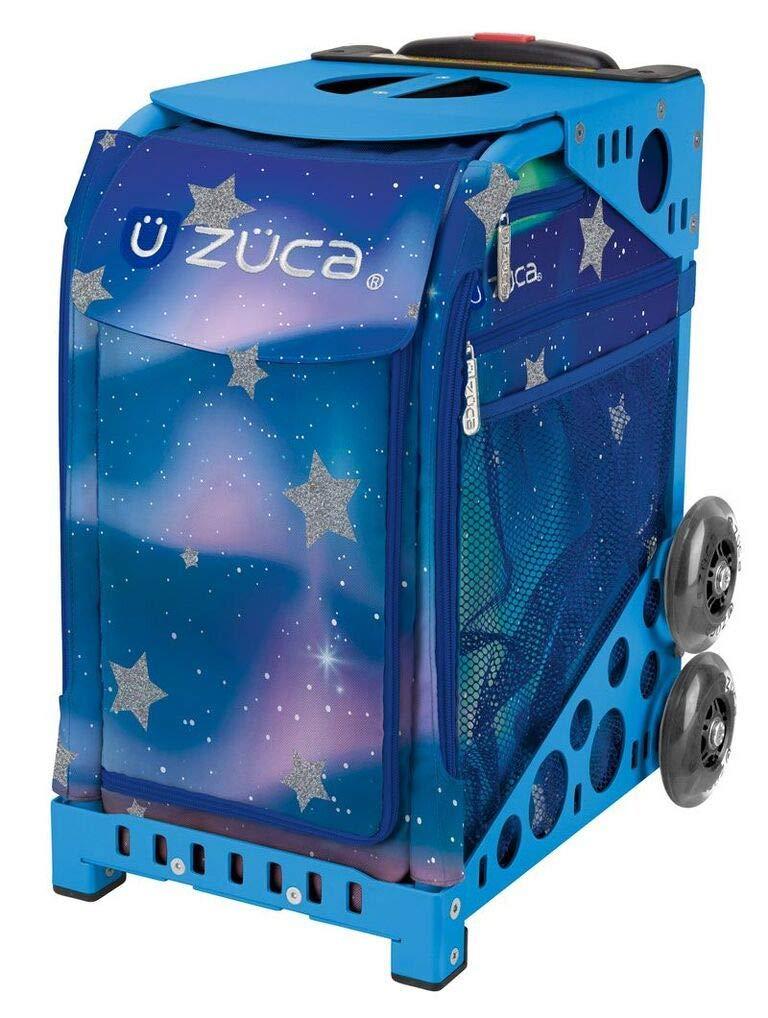 ZUCA Aurora Sport Insert Bag and Blue Frame with Flashing Wheels