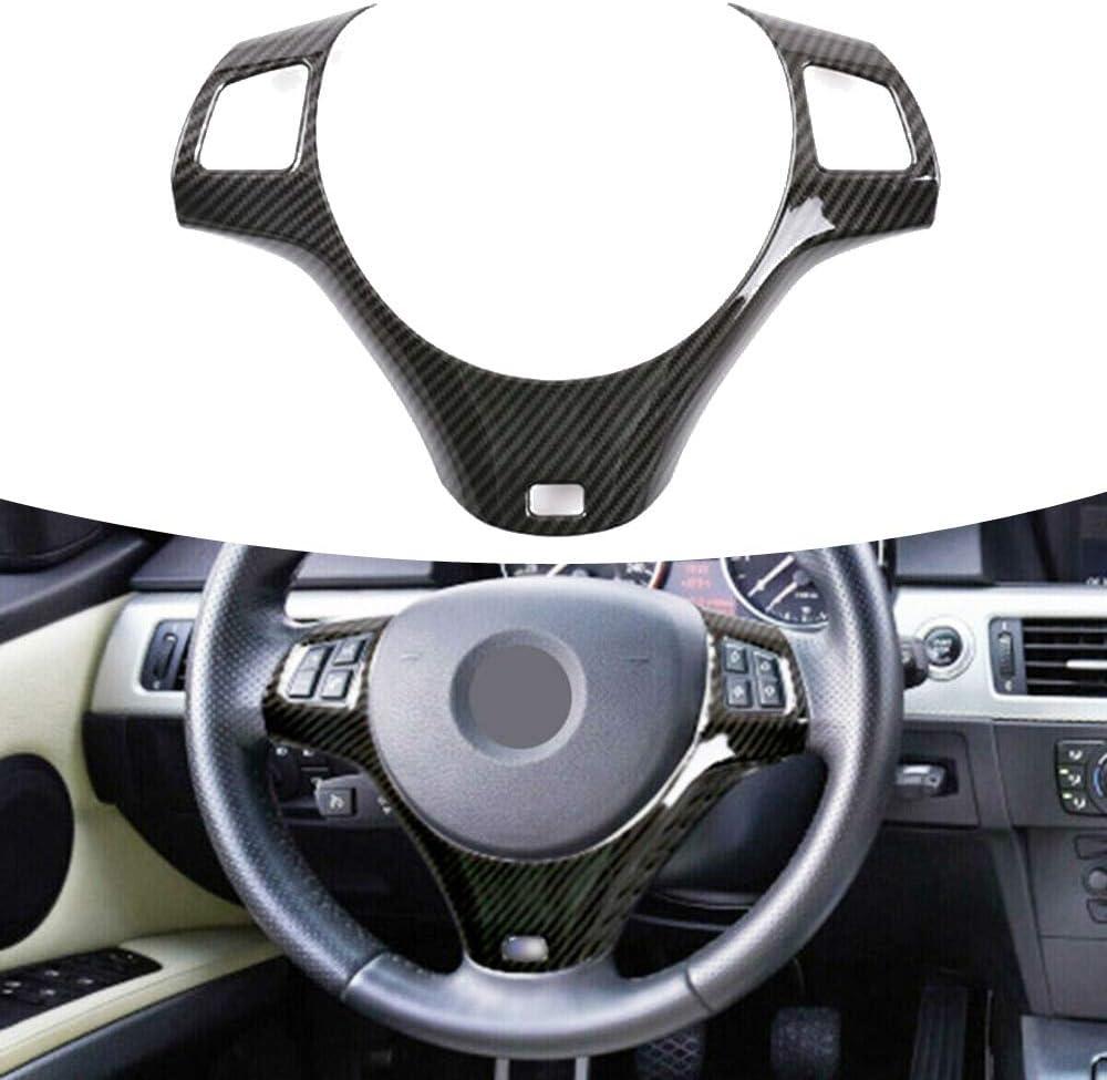 Pungdunk Carbon Faser Art Auto Lenkrad Abdeckung Dekoration Trim For Bmw 3er E90 E92 E93 05 12 Autozubehör Dekorative Auto