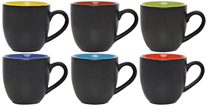 8df30bb9b3 Buy Somny Ceramic Tea Cup, 110 ml, Set of 6 Online at Low Prices in ...