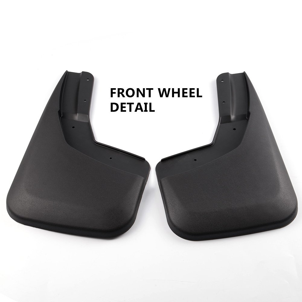 KCOOL Mud Flaps Fit for 2014-2018 Silverado No Drilling Required Without Fender Flares Custom Front and Rear Mud Guard Set 4-PC Set