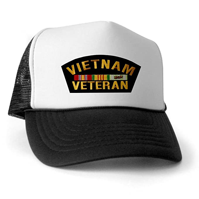 23a42db4 Image Unavailable. Image not available for. Color: CafePress - Vietnam  Veteran Trucker Hat ...
