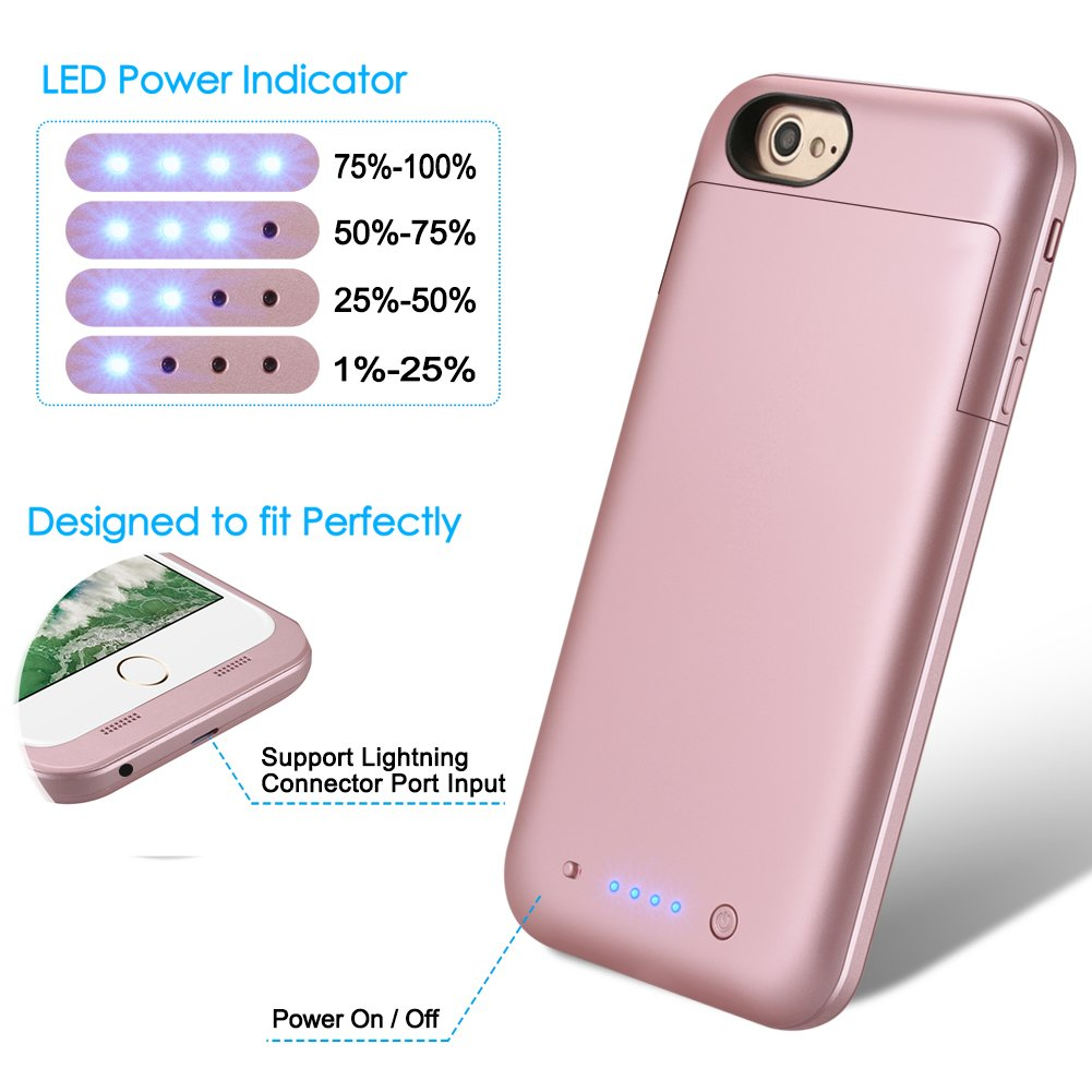 Iphone 7 Plus 8 Battery Case 7000mah Extended Loop September Powerbank Slim 80000mah Power Charger For Plus55inch Portable Rechargeable Backup Protective