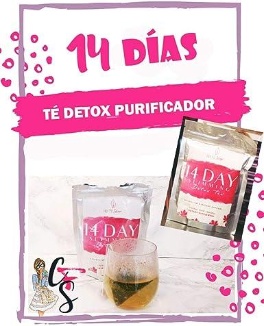Té Detox Plan Depurativo Y Adelgazante De 14 días: Amazon.es ...