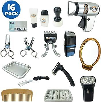 Amazon.com: Kit de herramientas de juego de peluquería de ...