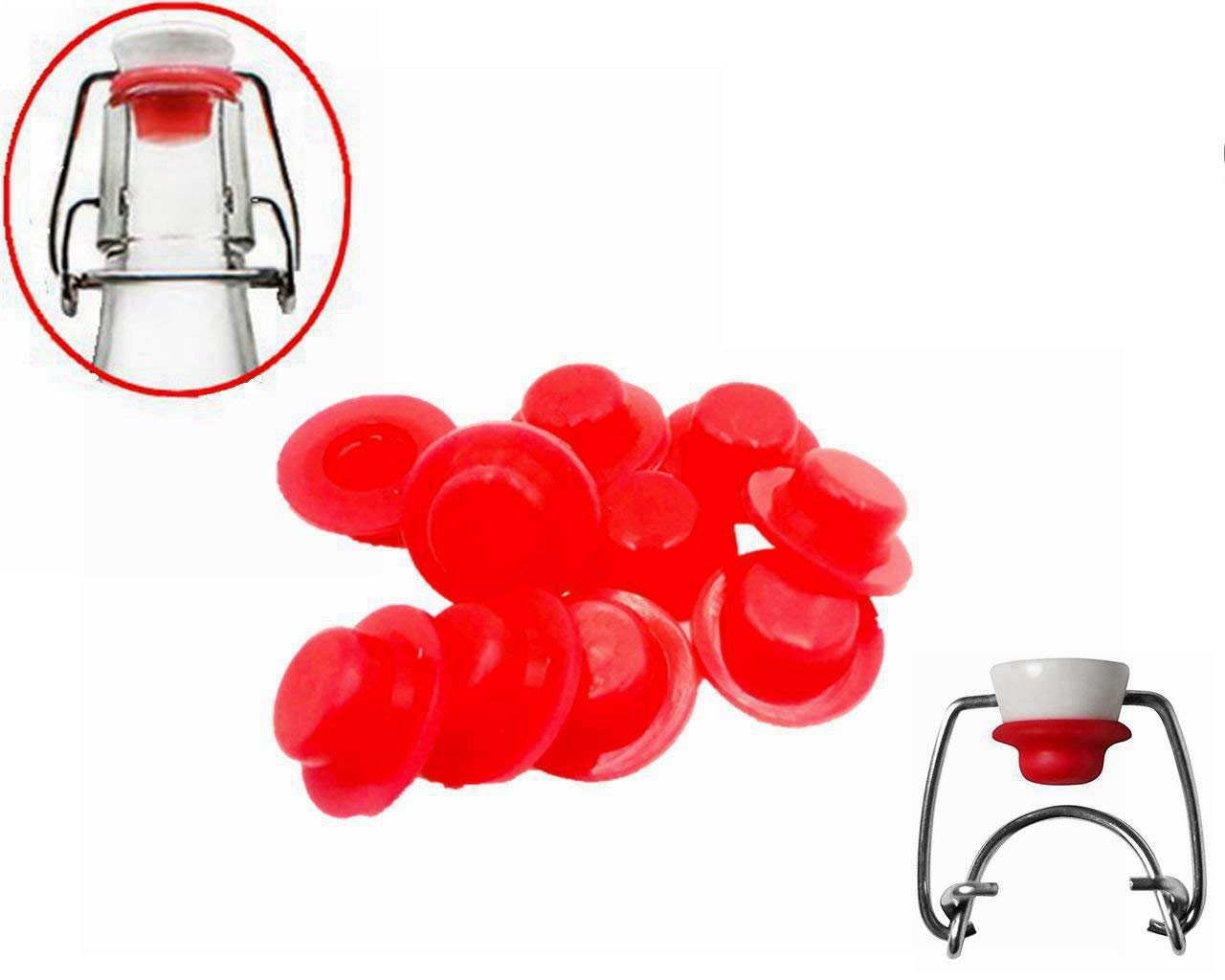 Grolsch Gaskets Silicone Seals For Swing Top Bottles by Yuwanting (red, 12)