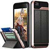 iphone 6 covers card holders - iPhone 6S Wallet Case, Vena [vCommute][Drop Protection] Flip Leather Cover Card Slot Holder with KickStand for Apple iPhone 6 6S (Rose Gold / Black)