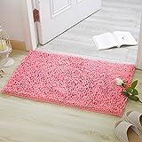 HOMEE Chenille Mat/Bedroom Kitchen Mats/Water Suction Foot Mat at the Door/Bathroom Nonlip Mats,I,100X150Cm(39X59Inch)