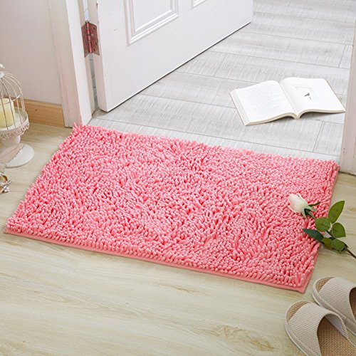 HOMEE Chenille Mat/Bedroom Kitchen Mats/Water Suction Foot Mat at the Door/Bathroom Nonlip Mats,I,100X150Cm(39X59Inch) by HOMEE