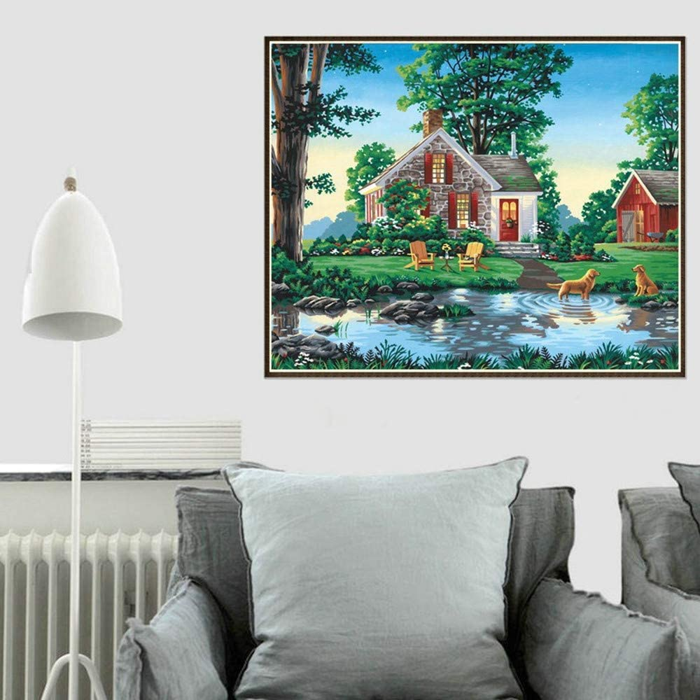 sunnymi/® DIY 5D Diamant Malerei Landschaft Home Dekor Diamond Painting Crystal Strass Stickerei Bilder Kunst Handwerk f/ür Home Wall Decor B/är und Mond, 30x40cm