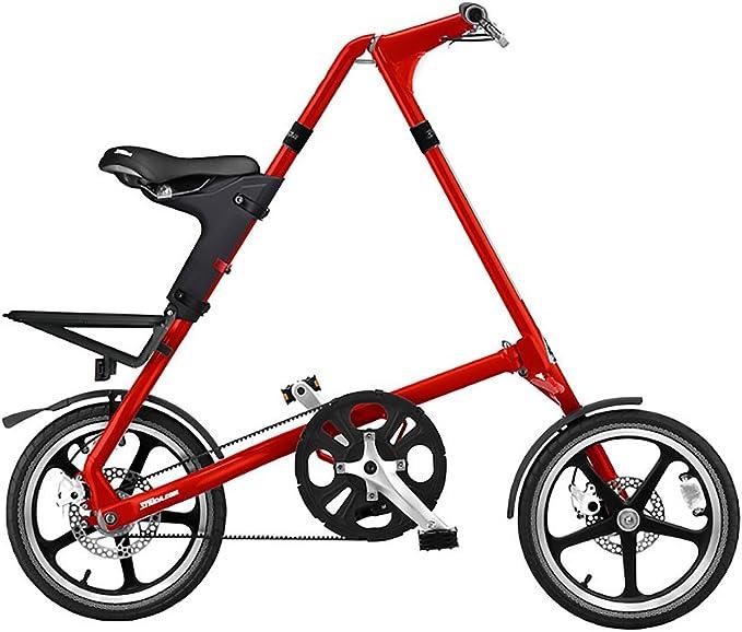 STRIDA LT - Bicicleta Plegable (Ruedas de 16 Pulgadas, Velocidad única), Color Rojo: Amazon.es: Deportes y aire libre