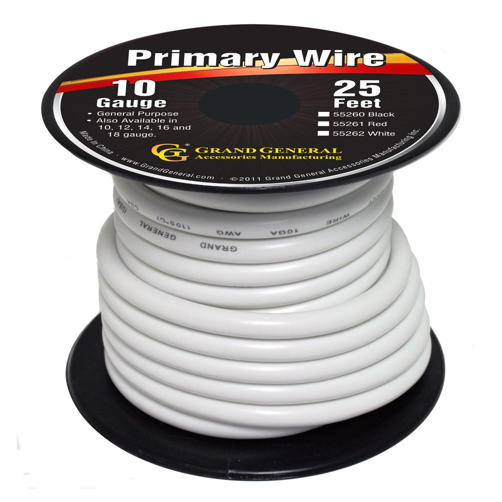 Amazon.com: Grand General 55261 Red 10-Gauge Primary Wire: Automotive