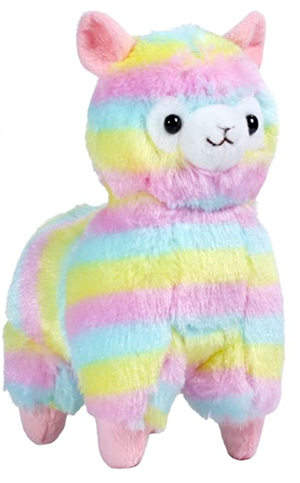 Amazon Com Amuse Rainbow 7 87 Inches Stuffed Llama Plush Doll Toy