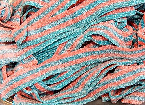 Sour Power Cotton Candy Belts Candy 1 Pound (16 Oz)