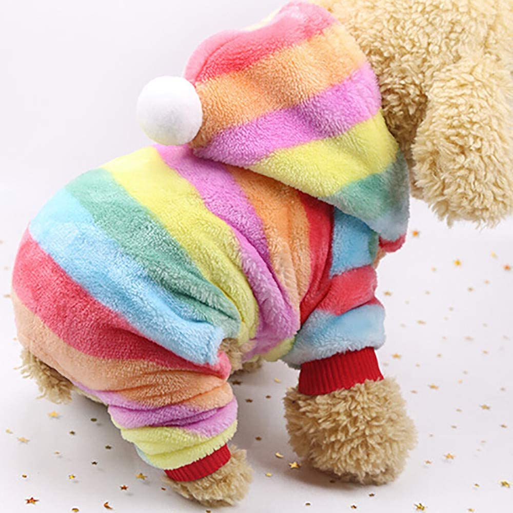 Futomcop Pet Dog Hoodie Cute Puppy Cat Warm Hooded Jacket Polka Dot Pet Clothes