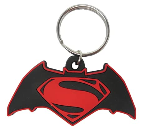 DC Comics Batman vs. Superman Logo Soft Touch PVC Llavero ...
