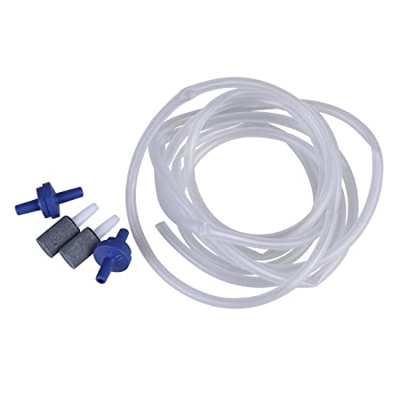 Amazon.com : UEETEK 2M Oxygen Tube Aquarium Fish Tank Hose With 2 pcs Bubble Release Air Stones and 2 pcs Air Valves for Aquariums Air Pump : Pet Supplies