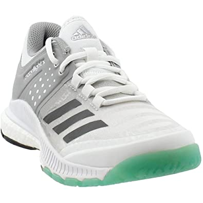 adidas Women's Crazyflight X Volleyball Shoe,White/Night Metallic/Grey,9 M  US