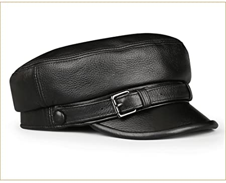 Women s leather ladies single-layer student cap men and women fashion  motorcycle leather hat autumn 05203eddc76