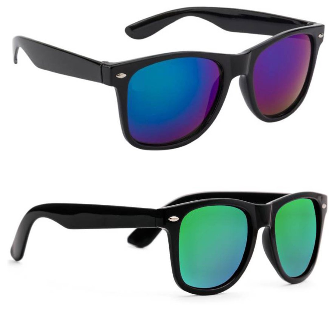 Elligator Reflactive Color Mirror Lens Sunglasses 55mm