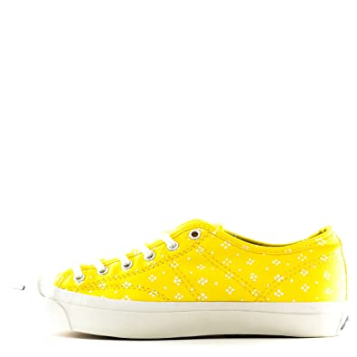 separation shoes 11107 87008 Converse Women Jack Purcell MARIMEKKO Helen Yellow White 7.5 Sneakers   Amazon.co.uk  Shoes   Bags