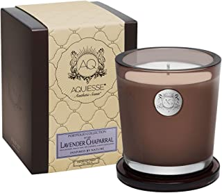 product image for Aquiesse Lavender Chaparral Large Candle in Gift Box, Smoke Brown